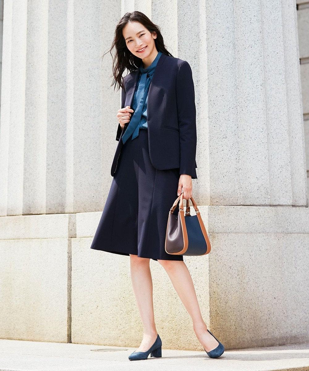 J.PRESS LADIES S 【スーツ対応】T/Rアルガンシルク スカート ネイビー系
