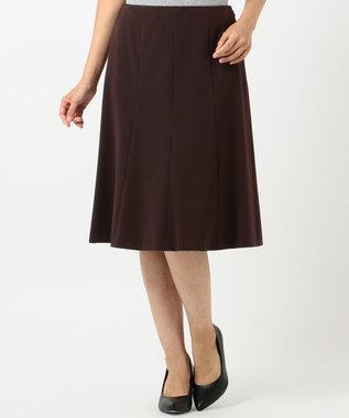J.PRESS LADIES S 【スーツ対応】T/Rアルガンシルク スカート ワイン系