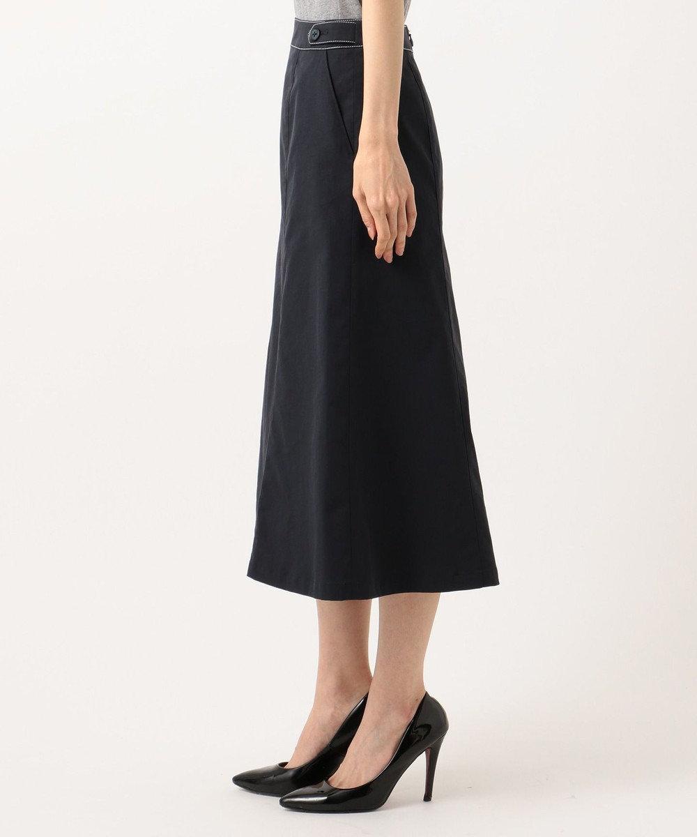 J.PRESS LADIES S 【透けにくい】洗えるTCリネンツイル スカート ネイビー系