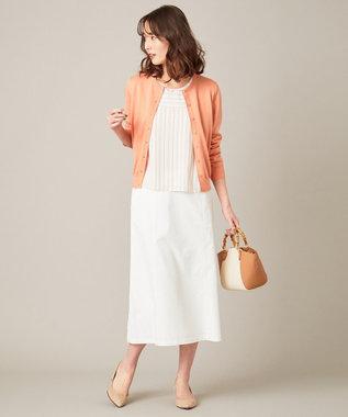 J.PRESS LADIES S 【透けにくい】洗えるTCリネンツイル スカート ホワイト系