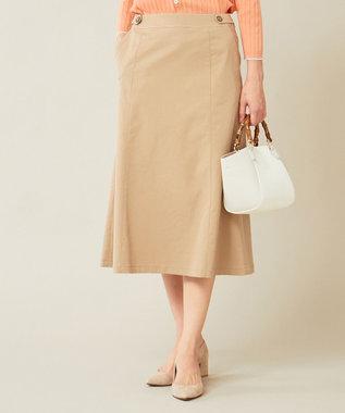 J.PRESS LADIES S 【透けにくい】洗えるTCリネンツイル スカート キャメル系