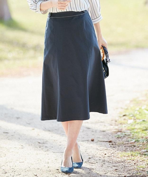 J.PRESS LADIES S 【透けにくい】洗えるTCリネンツイル スカート