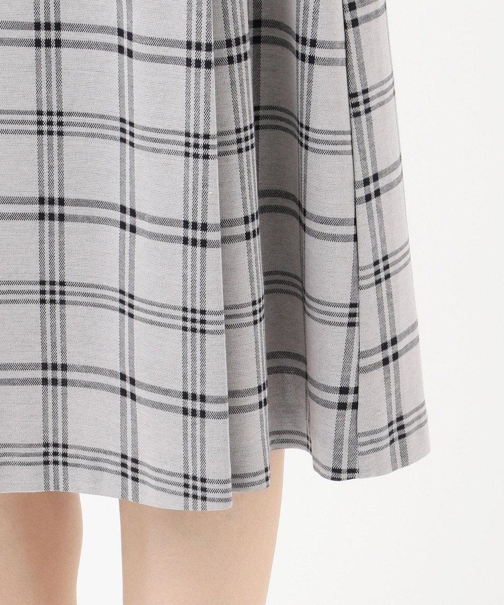 J.PRESS LADIES 【洗える】チェックジャカード スカート ライトグレー系5