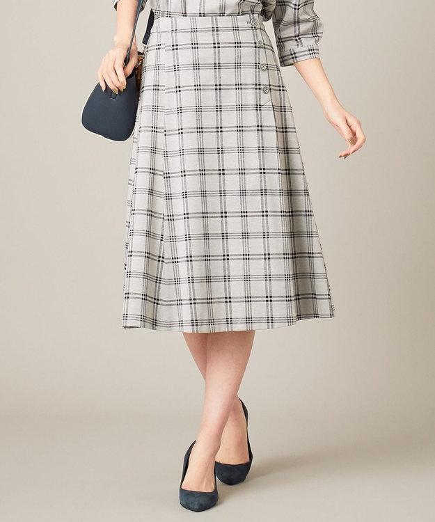 J.PRESS LADIES 【洗える】チェックジャカード スカート