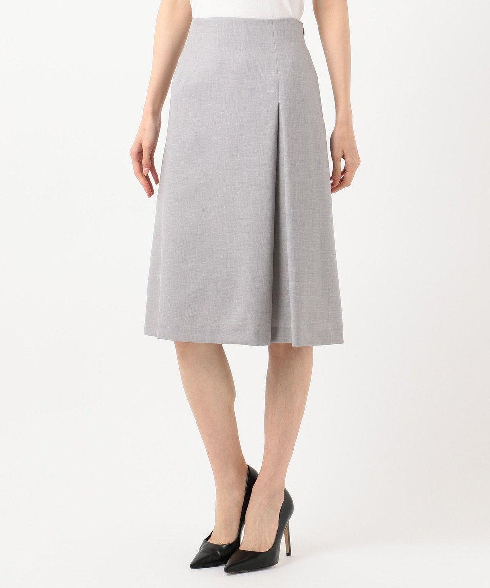 J.PRESS LADIES L 【洗える】FLAXASA スカート ライトグレー系