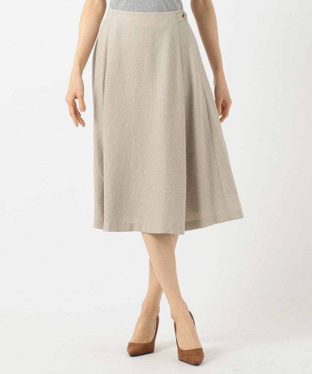 J.PRESS LADIES S 【洗える】アイアスソフトクロス スカート ベージュ系