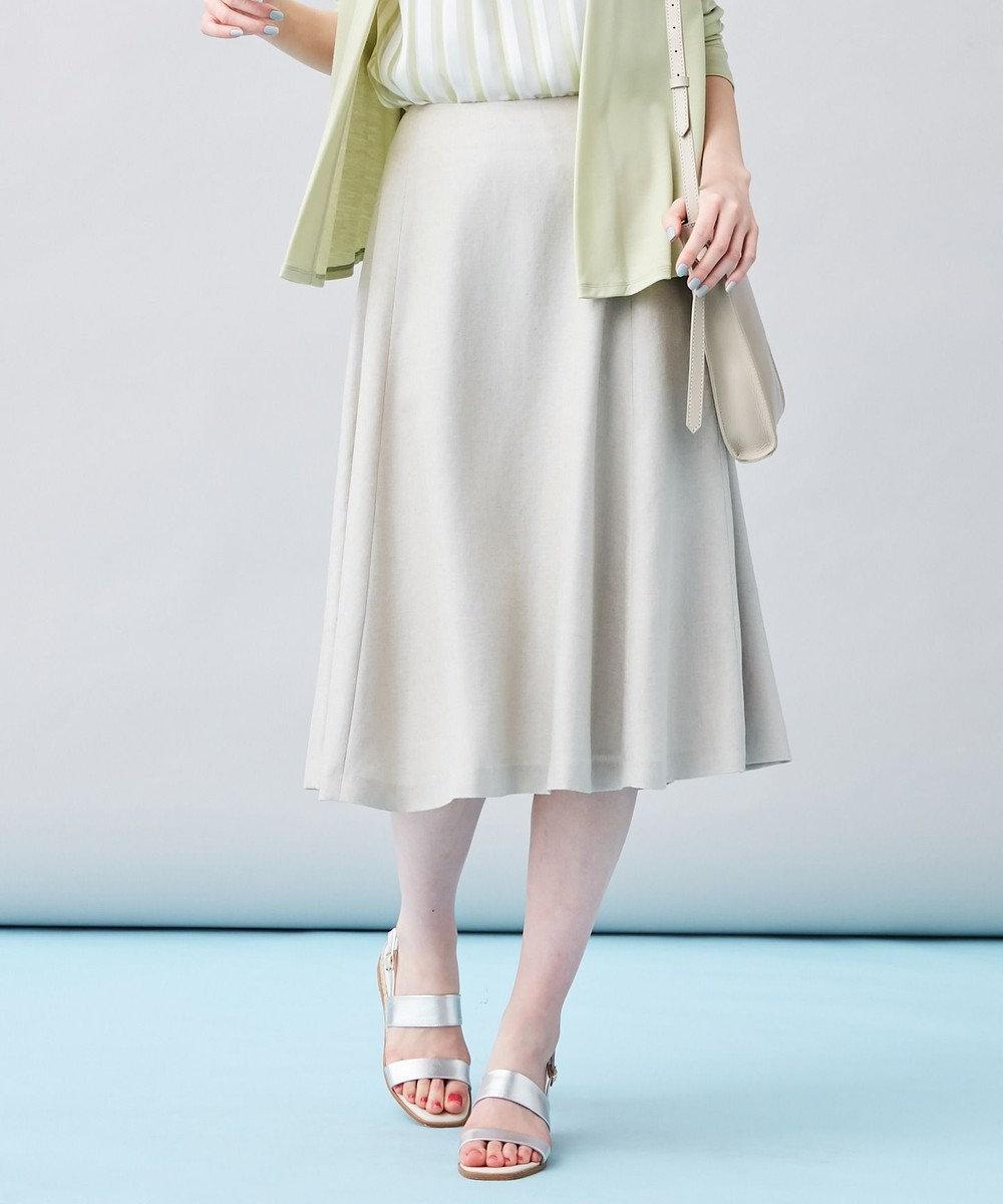 J.PRESS LADIES L 【洗える】アイアスソフトクロス スカート ベージュ系