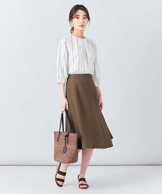 J.PRESS LADIES S 【洗える】アイアスソフトクロス スカート ブラウン系