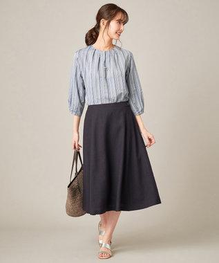 J.PRESS LADIES S 【洗える】アイアスソフトクロス スカート ネイビー系
