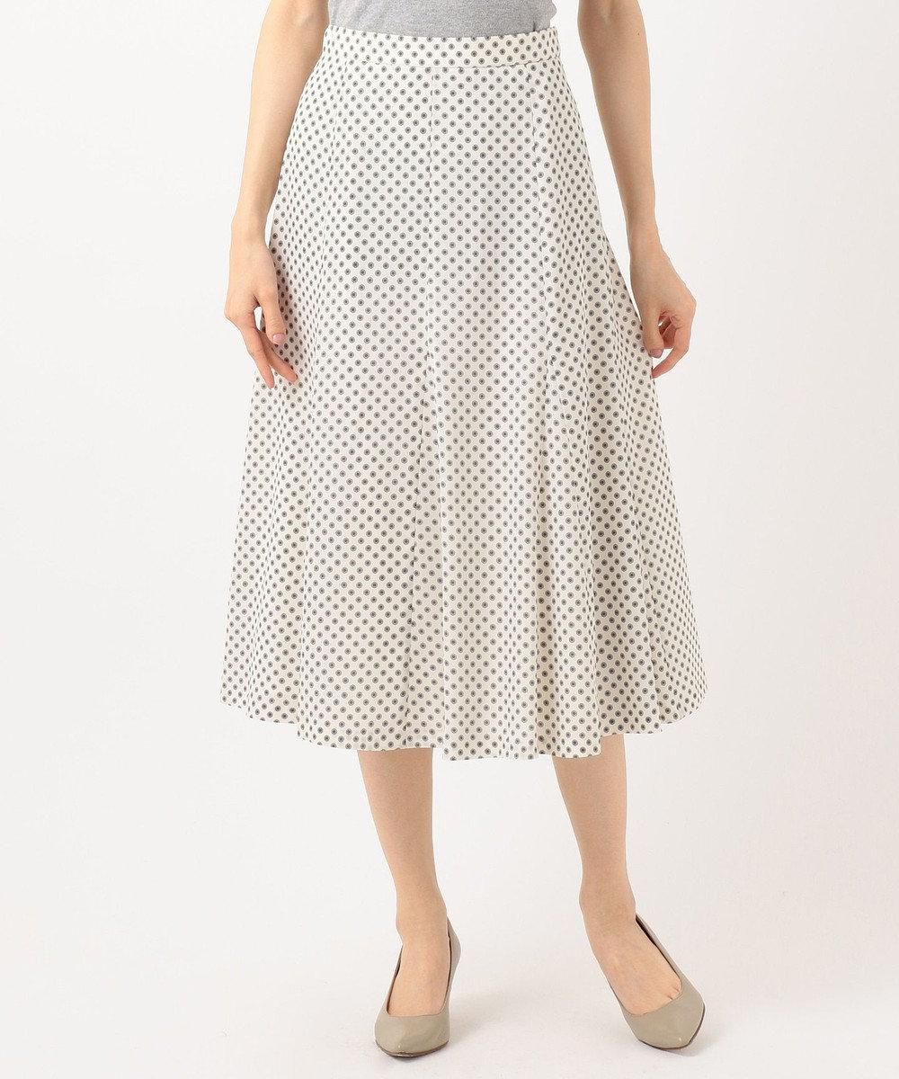 J.PRESS LADIES S 【洗える】アンティークデシン小紋プリント スカート アイボリー系5