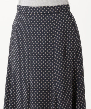 J.PRESS LADIES S 【洗える】アンティークデシン小紋プリント スカート ネイビー系5