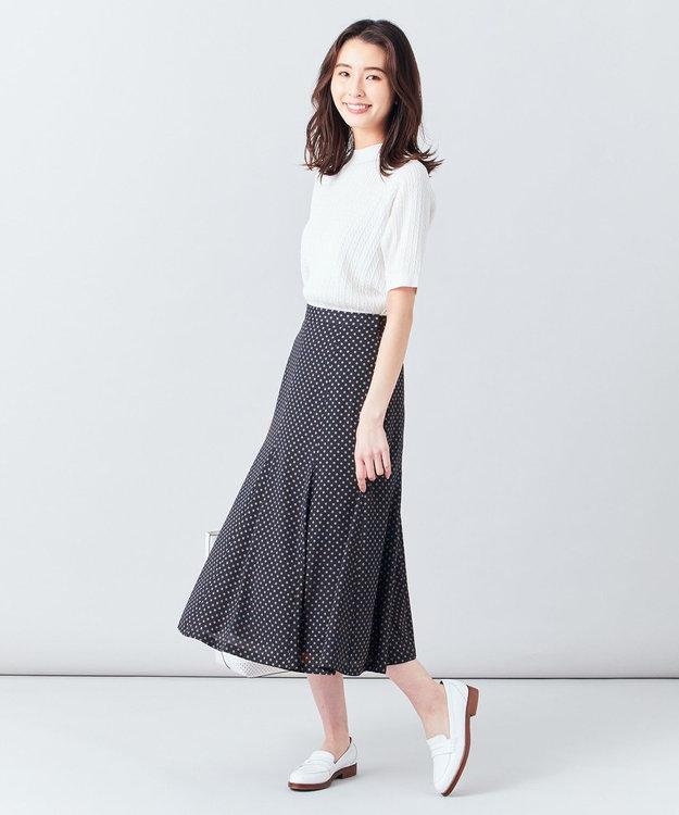 J.PRESS LADIES S 【洗える】アンティークデシン小紋プリント スカート