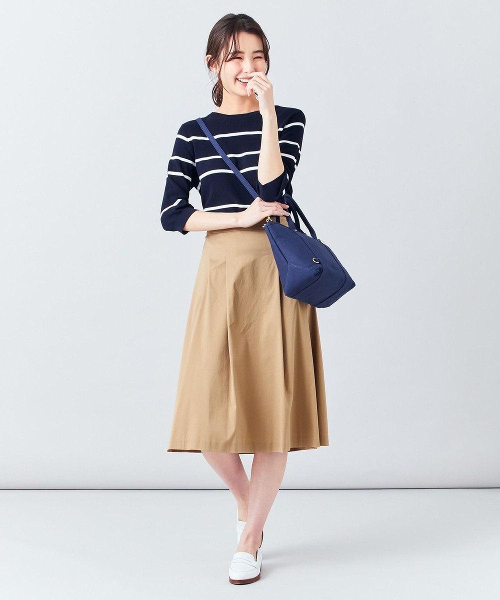 J.PRESS LADIES L 【洗える】60/2コットンナイロンシルキーローン スカート キャメル系