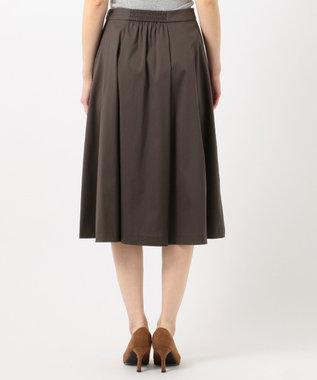 J.PRESS LADIES L 【洗える】60/2コットンナイロンシルキーローン スカート ダークブラウン系