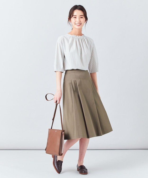 J.PRESS LADIES L 【洗える】60/2コットンナイロンシルキーローン スカート