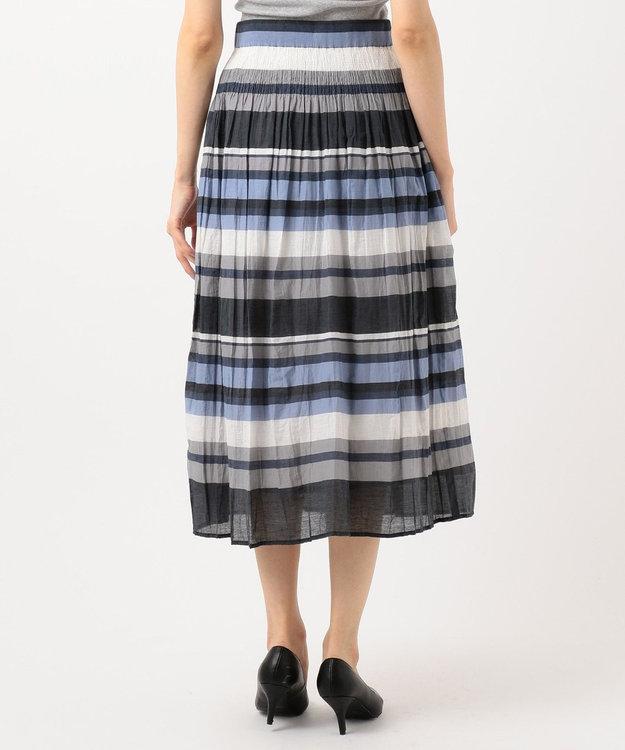 J.PRESS LADIES S シャーリングランダムボーダー スカート
