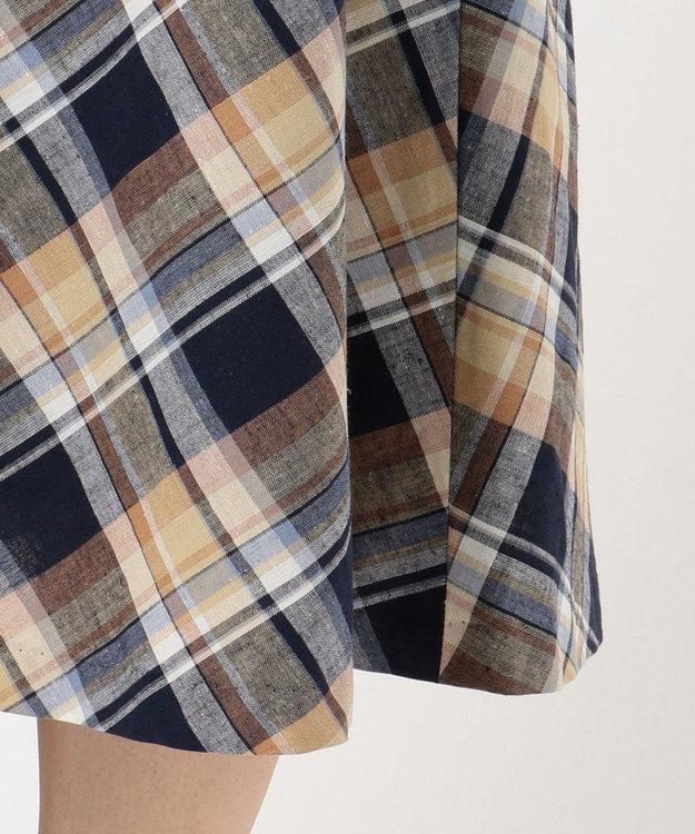 J.PRESS LADIES S 【洗える】BEZ TEKSTIL社マドラスチェック スカート