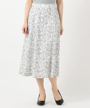 J.PRESS LADIES 【洗える】ポリエステルデシン更紗プリント スカート ホワイト系5