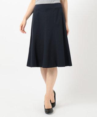 J.PRESS LADIES 【シワになりにくい】コットンフィッティーシャーク スカート ネイビー系