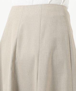 J.PRESS LADIES 【シワになりにくい】コットンフィッティーシャーク スカート ベージュ系