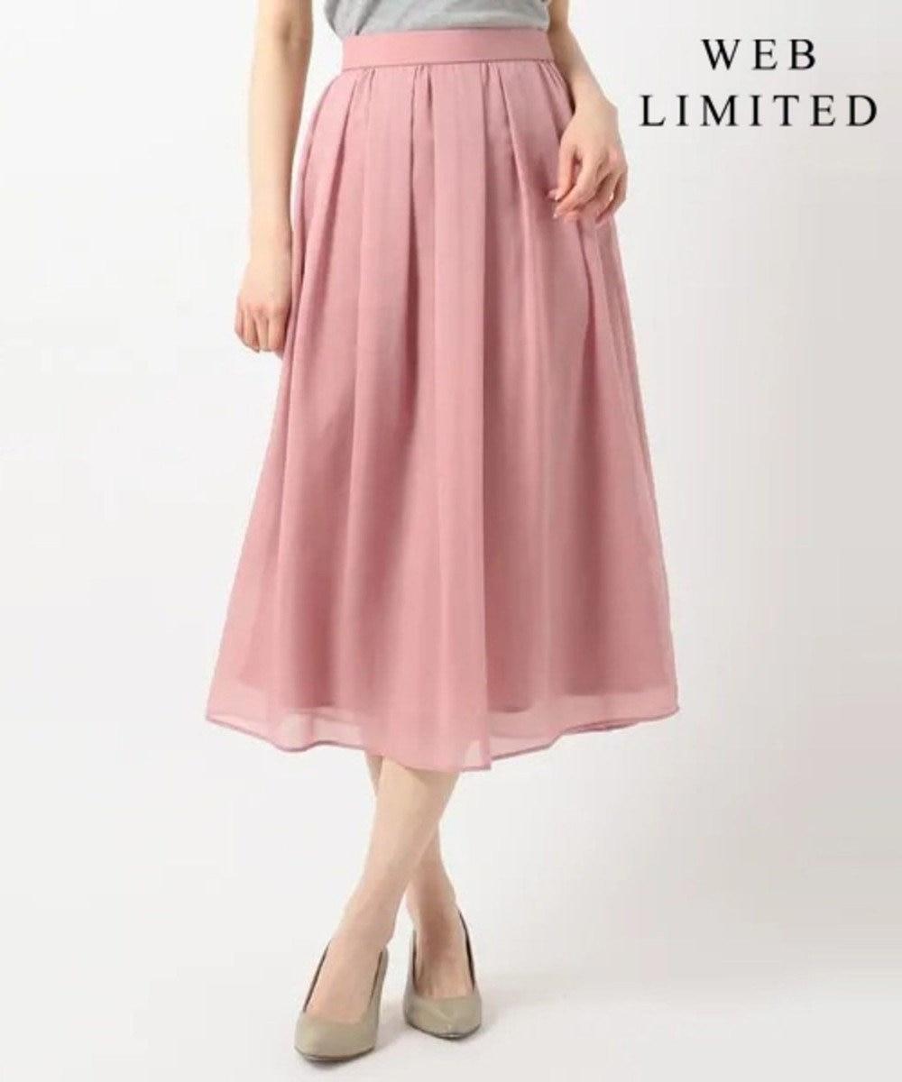 J.PRESS LADIES S 【WEB限定色あり】洗えるブライトスパンボイル スカート [WEB限定]ピンク系