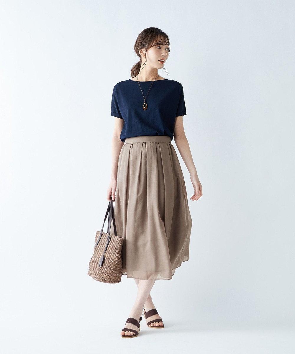 J.PRESS LADIES S 【WEB限定色あり】洗えるブライトスパンボイル スカート [WEB限定]ブラウン系