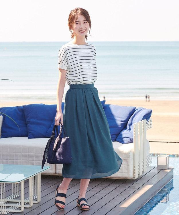 J.PRESS LADIES S 【WEB限定色あり】洗えるブライトスパンボイル スカート