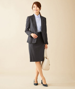J.PRESS LADIES S 【スーツ対応】Premium G.B. Conte タイトスカート ネイビー系