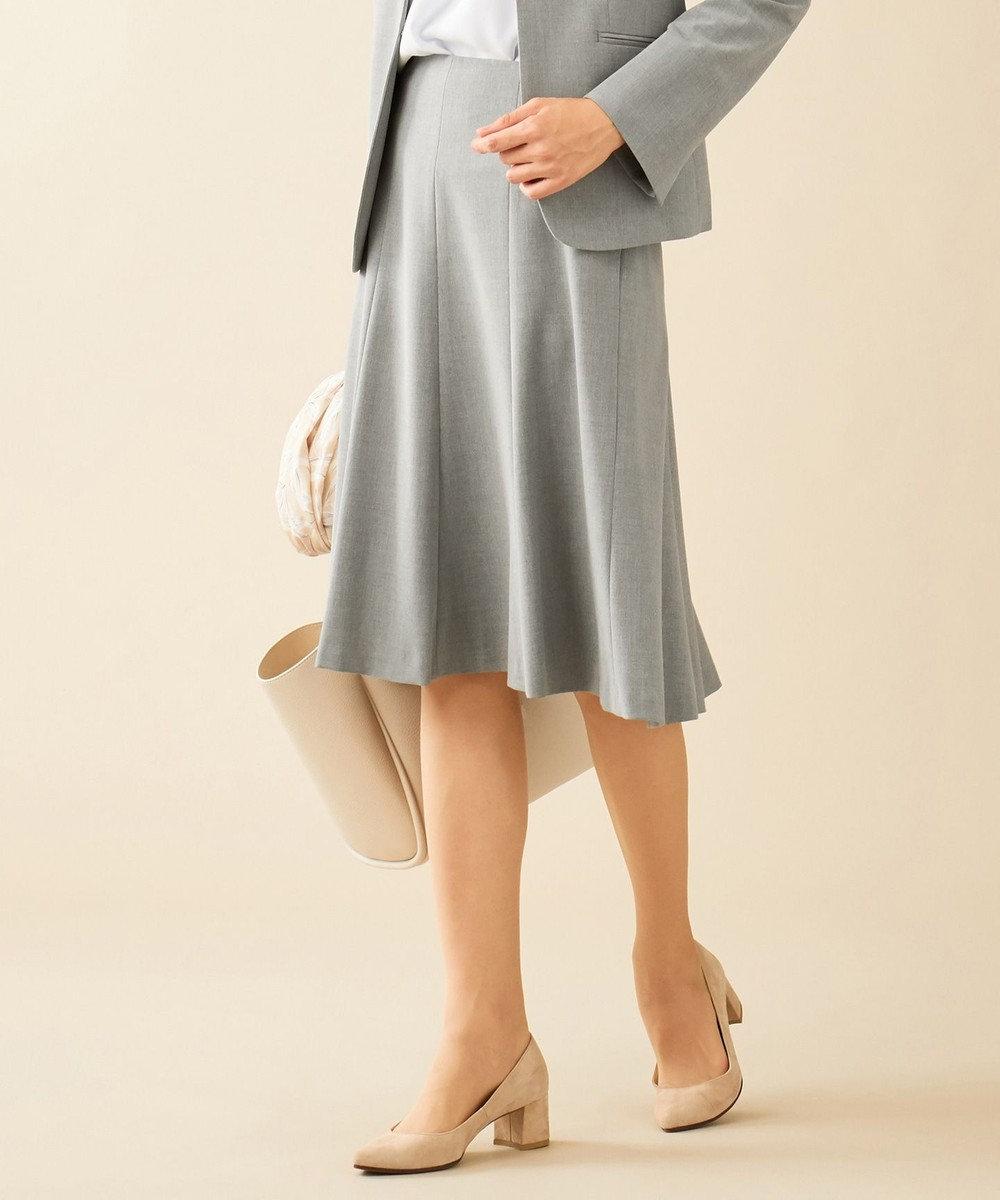J.PRESS LADIES 【WEB限定色あり】洗えるTRコンフォート スカート グレー系
