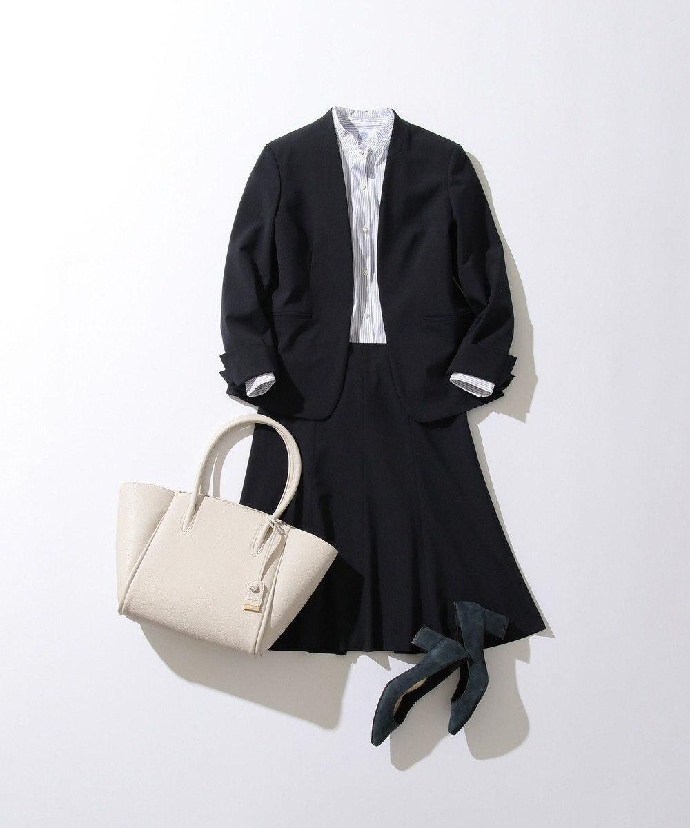 J.PRESS LADIES 【WEB限定色あり】洗えるTRコンフォート スカート ネイビー系