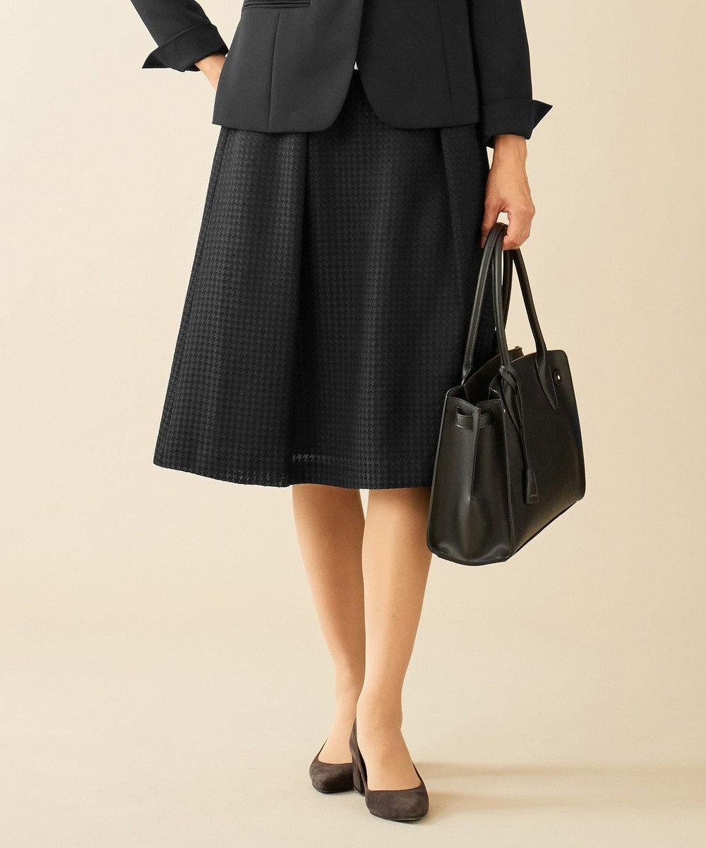 J.PRESS LADIES オパール千鳥 スカート ブラック系5