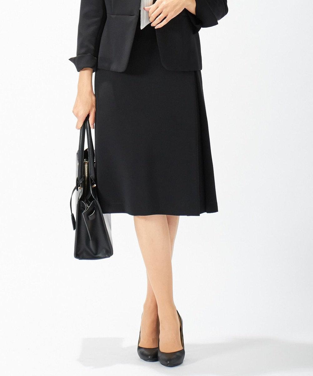 J.PRESS LADIES L 【ニオイ菌抑制】洗えるヴィーナスダブルクロス スカート ブラック系