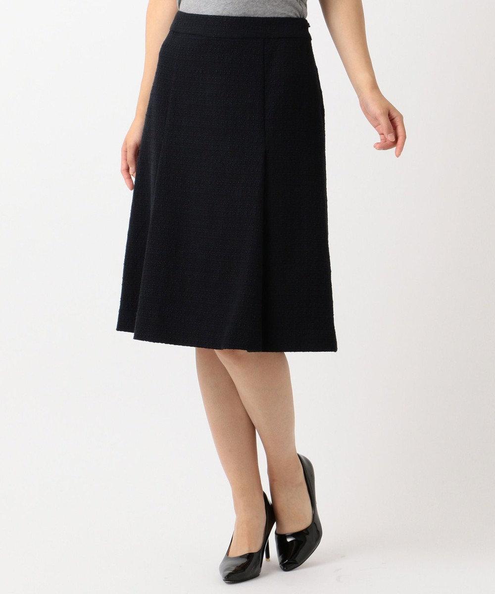 J.PRESS LADIES L 【セットアップ対応】ファンシーツイード スカート ネイビー系