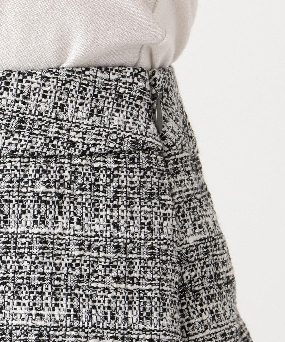 J.PRESS LADIES L 【セットアップ対応】ファンシーツイード スカート ホワイト系
