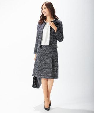 J.PRESS LADIES L 【セットアップ対応】ファンシーツイード スカート ネイビー系1