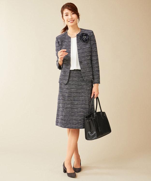 J.PRESS LADIES L 【セットアップ対応】ファンシーツイード スカート