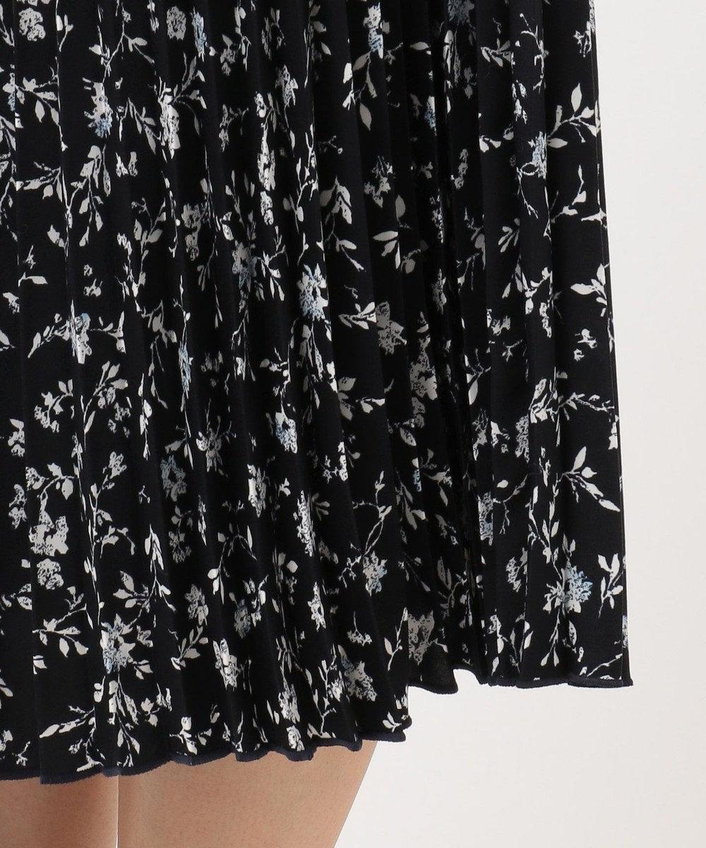 J.PRESS LADIES 【洗える】フラワープリント プリーツ スカート ネイビー系5
