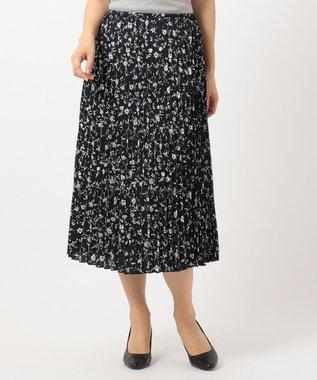 J.PRESS LADIES S 【洗える】フラワープリント プリーツ スカート ネイビー系5