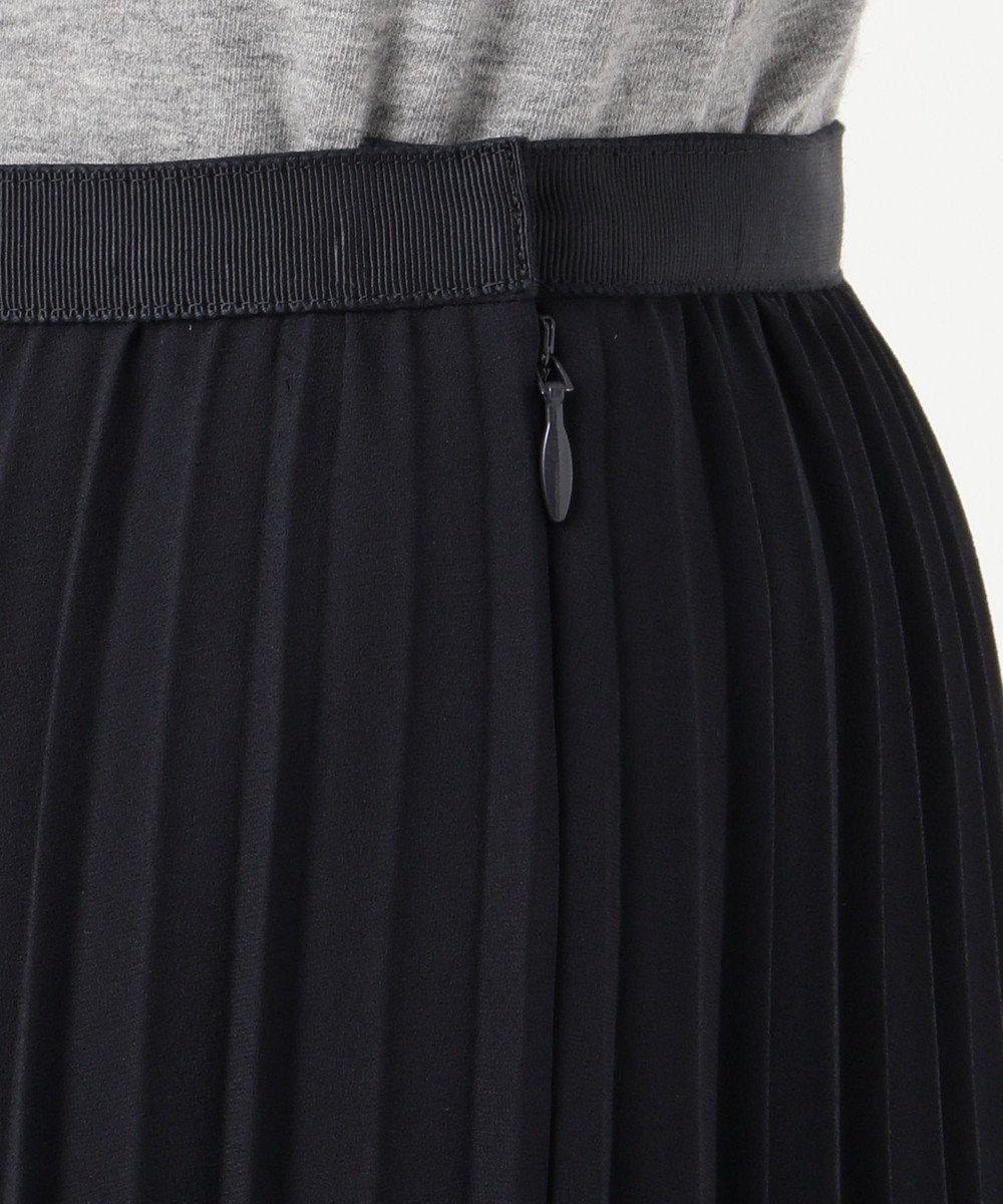 J.PRESS LADIES ノルディス ジョーゼット プリーツスカート ネイビー系