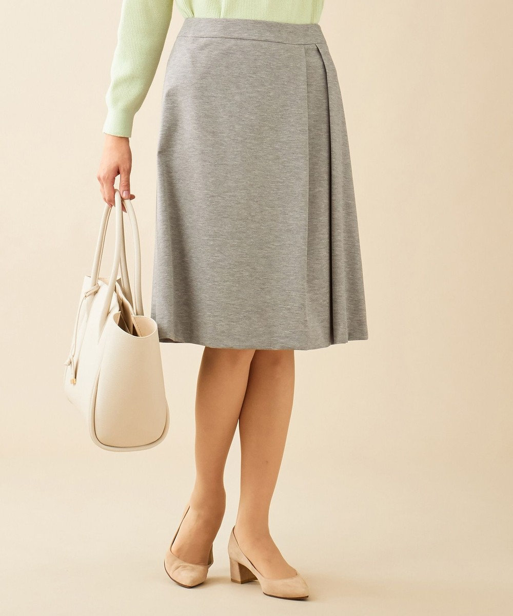 J.PRESS LADIES S 【制菌加工・UVカット】アルファクロスジャージー スカート グレー系