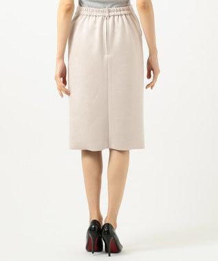 J.PRESS LADIES S 【ストレッチ性抜群】ライトスウェードダンボール スカート ベージュ系