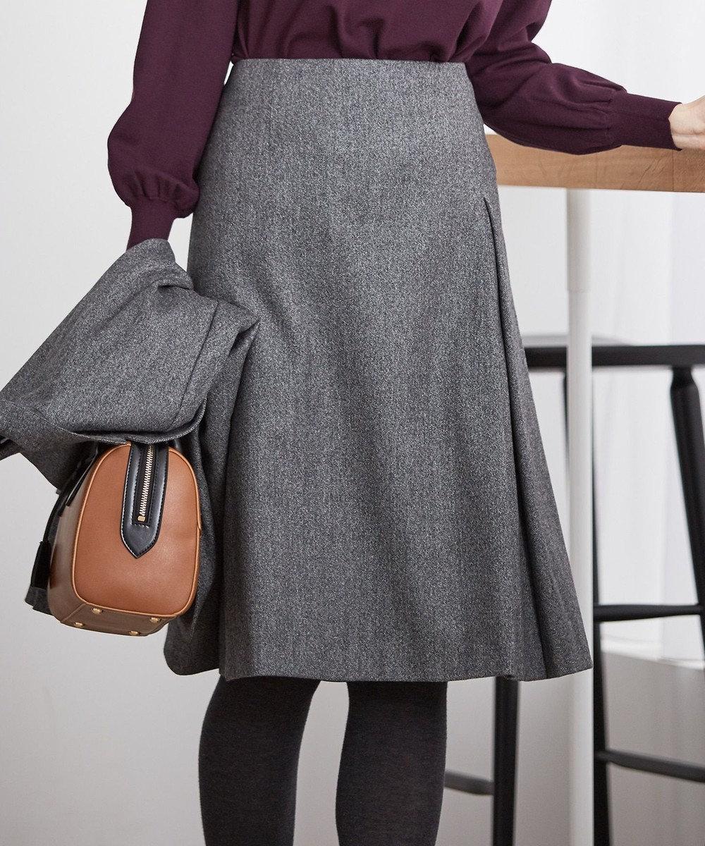 J.PRESS LADIES S 【セットアップ対応】ウールストレッチツイード スカート グレー系
