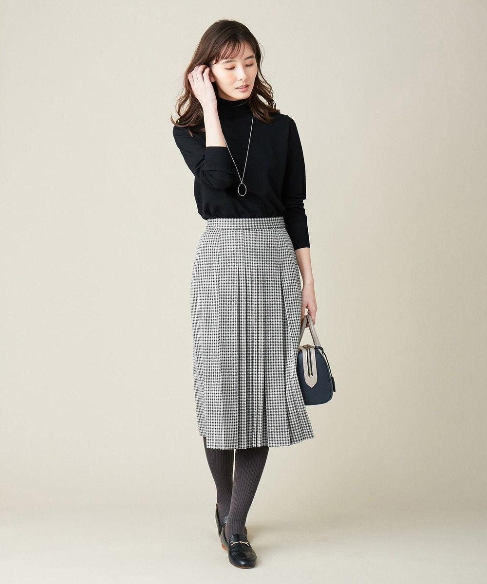 J.PRESS LADIES S 【洗える】ガンクラブジャカード スカート ライトグレー系5