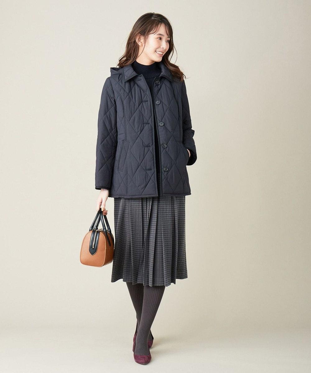 J.PRESS LADIES S 【洗える】ガンクラブジャカード スカート グレー系5