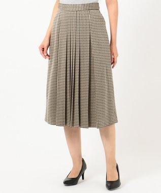 J.PRESS LADIES S 【洗える】ガンクラブジャカード スカート ブラウン系5