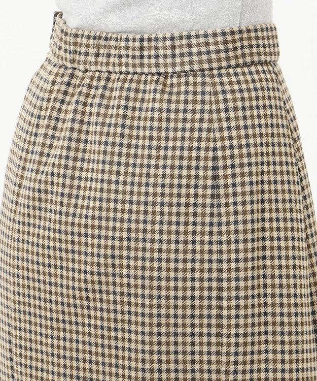 J.PRESS LADIES S 【洗える】ガンクラブジャカード スカート