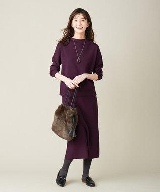J.PRESS LADIES L 【洗える】PRINCE スカート パープル系