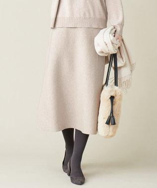 J.PRESS LADIES L 【洗える】PRINCE スカート ベージュ系