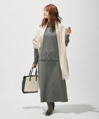 J.PRESS LADIES L 【洗える】PRINCE スカート グレー系