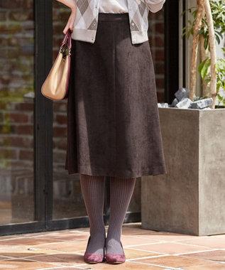 J.PRESS LADIES Peスエード スカート ダークブラウン系